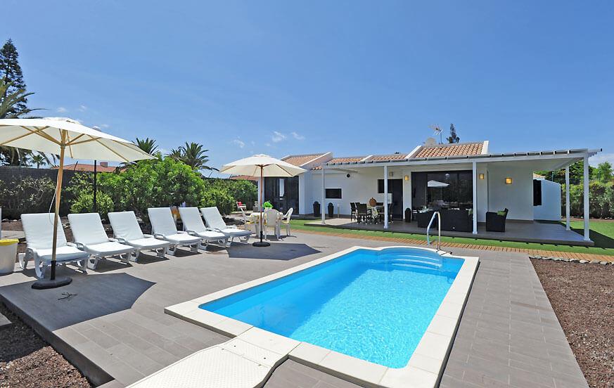 Moderne villen mit pool  Urlaub Unterkunft mit Pool in Villa Maspalomas Golf