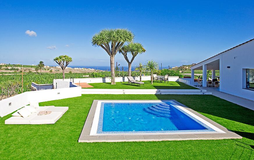 Haus mit modernem Interieur und privatem Pool in der grünen Zone von Hinojal in der Nähe der Stadt Las Palmas de Gran Canaria