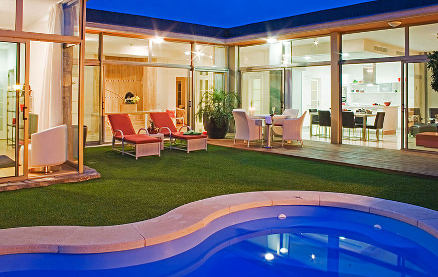 Modern two bedroom villas with private pool, jacuzzi and overlooking the Anfi Tauro golf course
