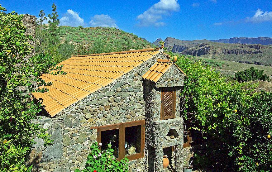 Ferienhaus auf einer weitläufigen Finca mit Gemeinschaftspool in der exklusiven Gegend Monte Leon nahe Maspalomas