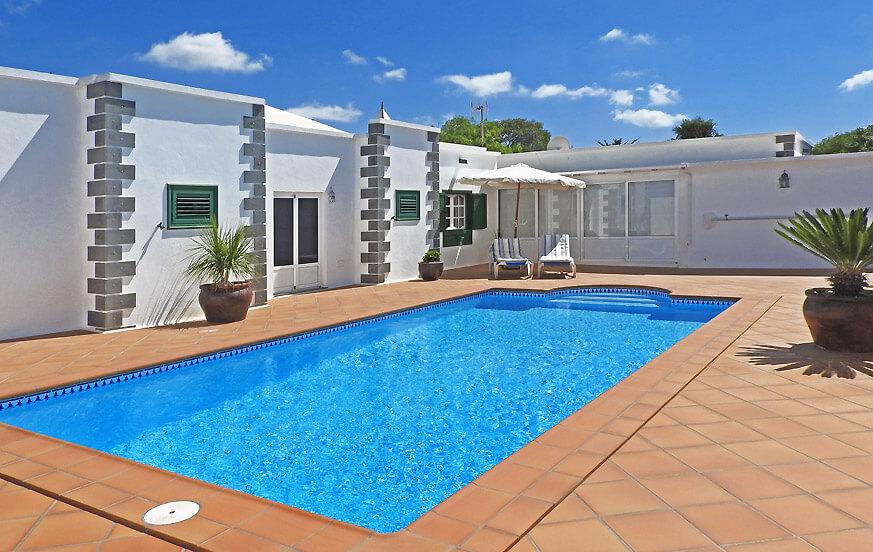 Sommerhus med privat pool i et smukt landområde i den nordlige del af Lanzarote