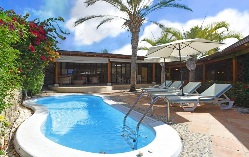 Feriehus med privat basseng i nærheten av golfbanen Anfi Tauro i det sørlige Gran Canaria