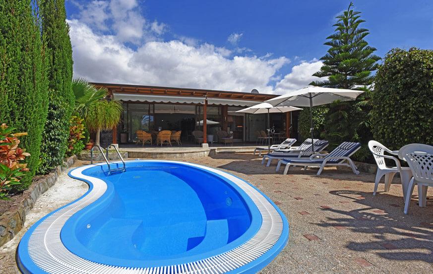 Stuga med privat pool nära golfbanan Anfi Tauro i södra Gran Canaria