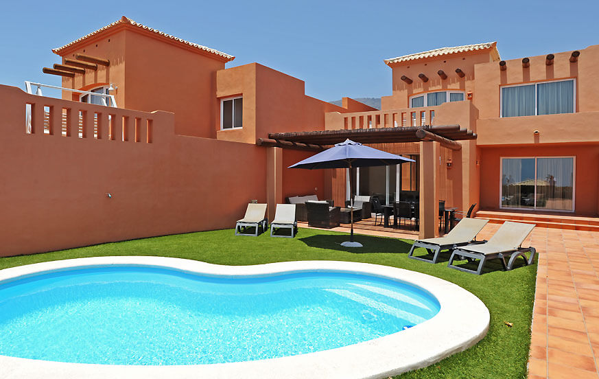 Modern two storey villa with private pool, located near the golf course and beach in the area of Adeje