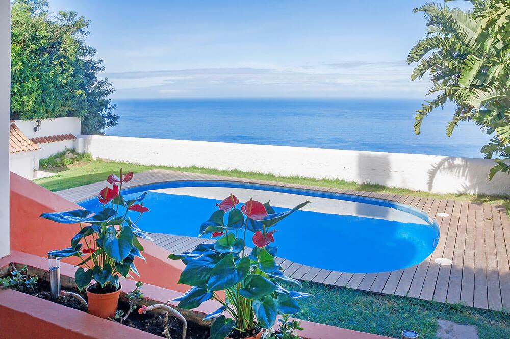 Leilighet med privat basseng for opptil 4 personer i nord på kanariøya Tenerife