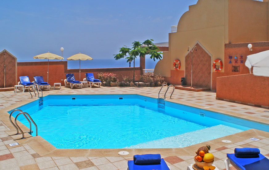 Appartementen met zwembad en wellness-centrum in de buurt van de prachtige gouden stranden van Jandía