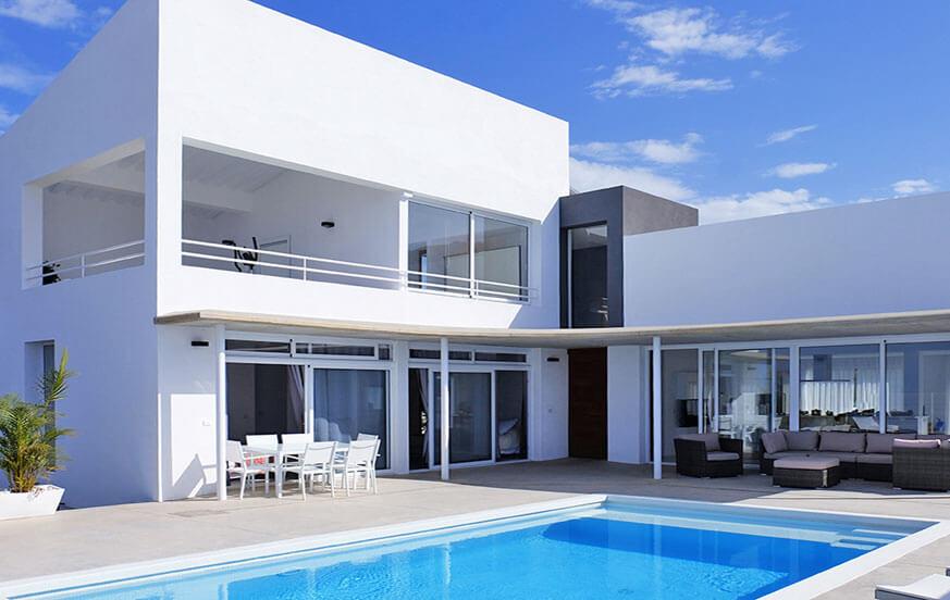 Superb lyse villa med privat pool med en fantastisk udsigt over vulkanen Teide, havet og bjergene