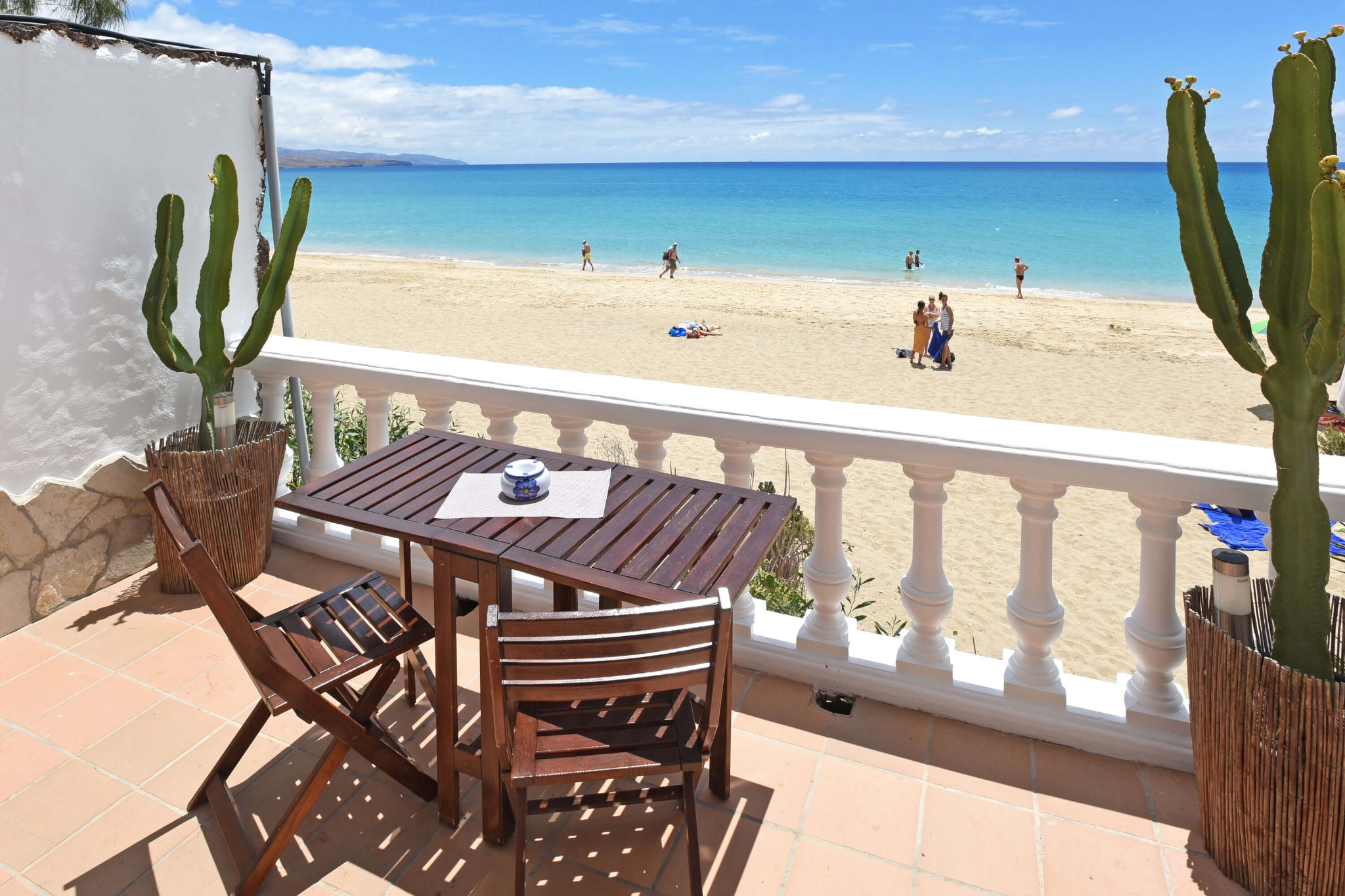 Cosy apartment with stunning sea view right at the beach of Costa Calma