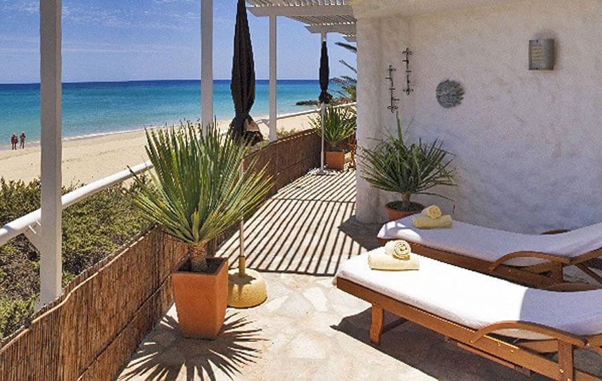 Stilvolle Ferienwohnung mit direktem Zugang zum goldenen Strand von Costa Calma im Süden von Fuerteventura