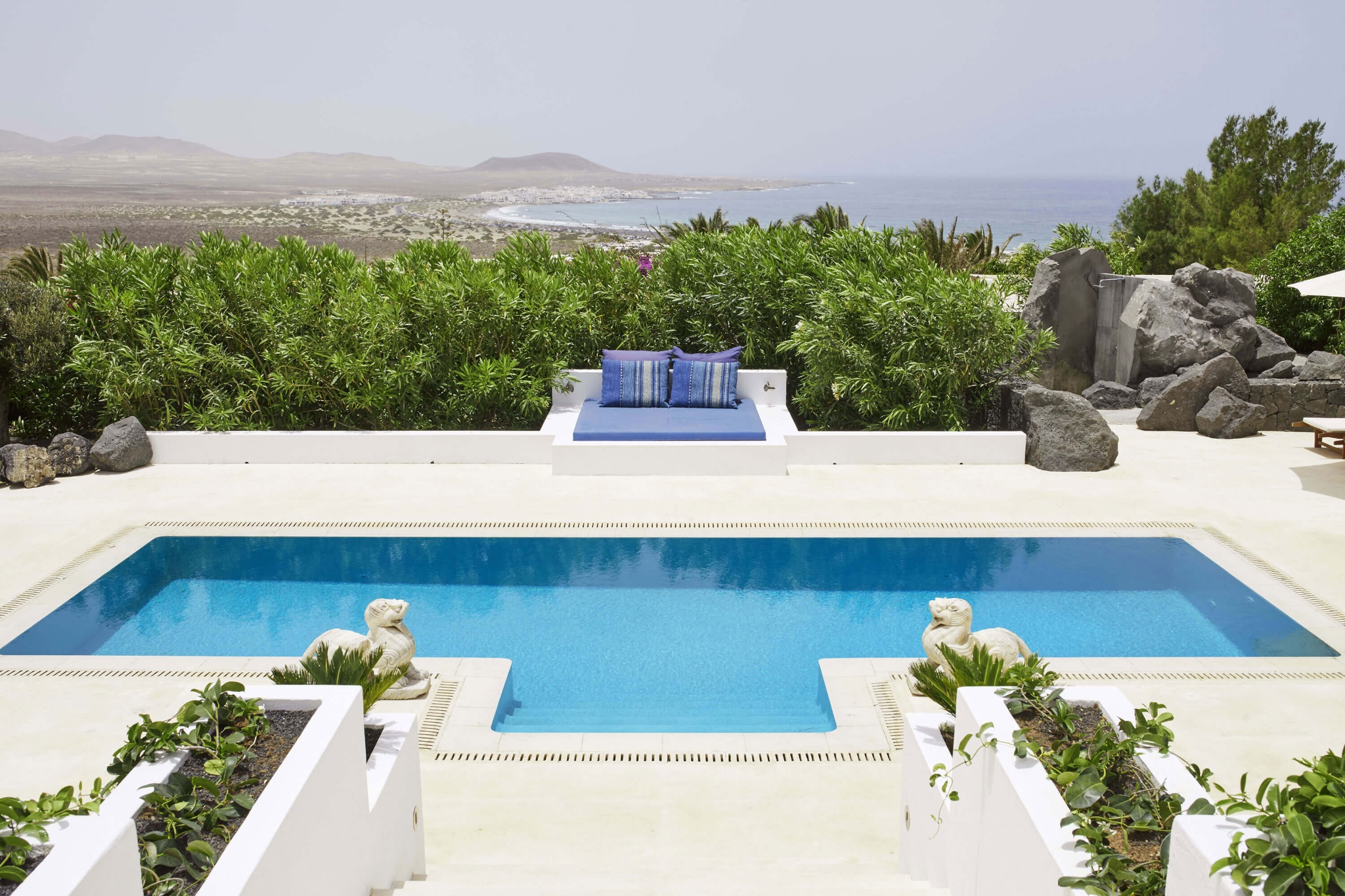 Fully furnished studio apartment beautifully decorated with a communal pool and stunning views to Playa Famara