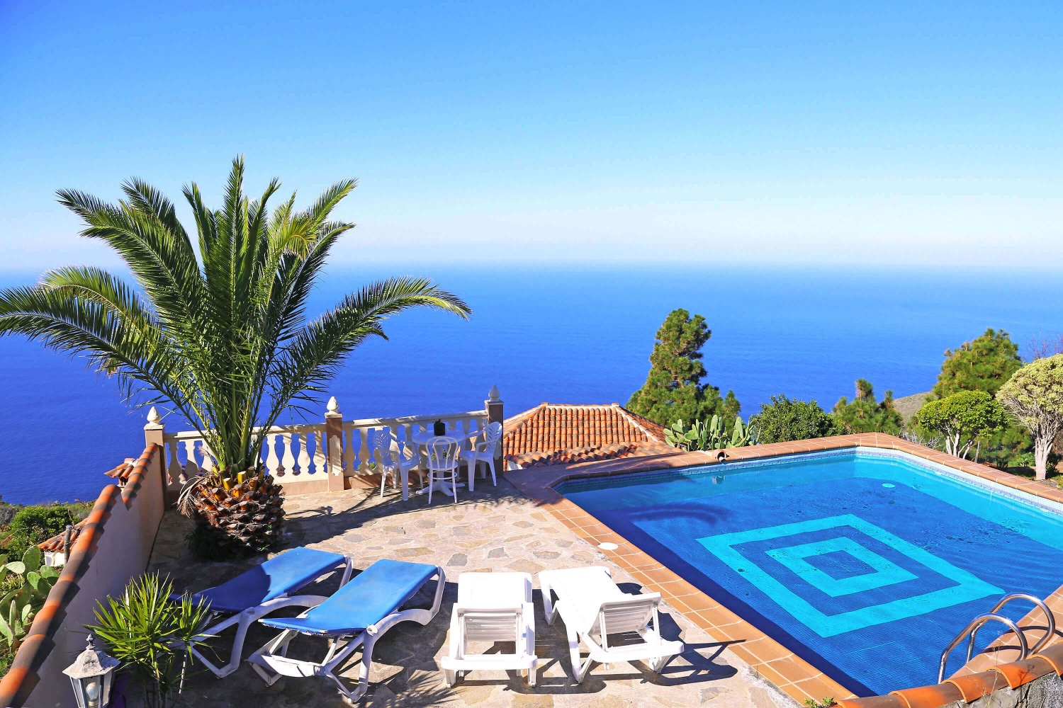 Rustical holiday house with private pool and stunning views of the sea and mountains in Puntagorda, on the island of La Palma