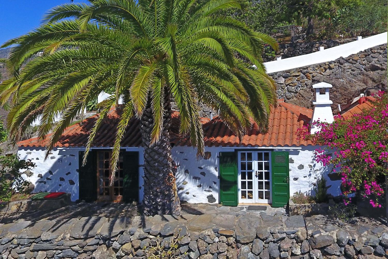 Authentisches kanarisches Steinhaus für 2 Personen mit fantastischem Meerblick in der wunderschönen Umgebung von Tijarafe